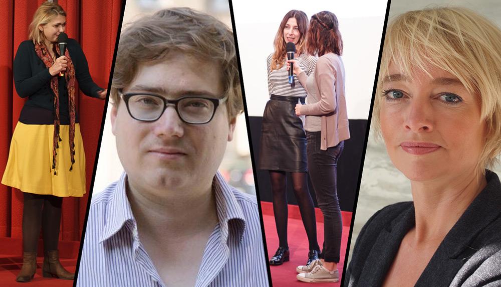 Frédéric Jaeger (Filmkritiker/critic.de, Berlin), Ruth Schiffer (Ministerium für Kultur und Wissenschaft des Landes NRW), Britta Wandaogo (Regisseurin/Produzentin, Köln) und Saskia Wielinga (Produzentin, Amsterdam)